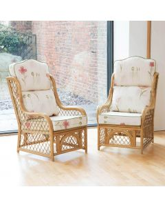 2 Cadiz Conservatory Armchairs with High Back Cushions