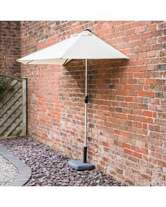2.7m Wind Up Half Parasol with 20kg Base