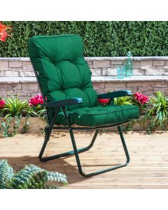 Recliner Chair - Green Frame with Classic Green Cushion