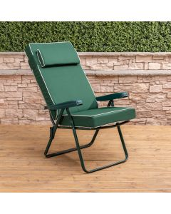 Recliner Chair - Green Frame with Luxury Green Cushion