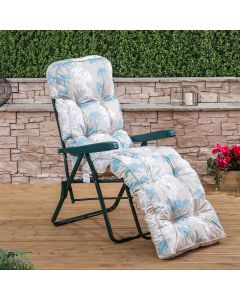 Relaxer Chair - Green Frame with Classic Francesca Beige Cushion