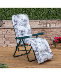 Relaxer Chair - Green Frame with Classic Francesca Grey Cushion