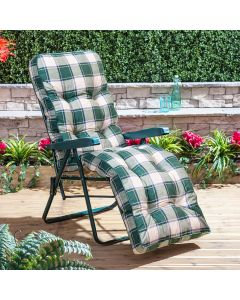 Relaxer Chair - Green Frame with Classic Green Check Cushion
