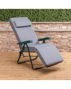 Relaxer Chair - Green Frame with Luxury Grey Cushion
