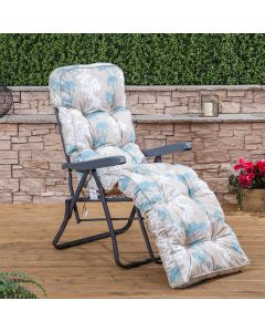 Relaxer Chair - Charcoal Frame with Classic Francesca Beige Cushion