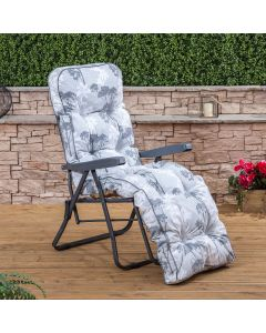 Relaxer Chair - Charcoal Frame with Classic Francesca Grey Cushion