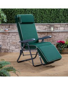 Relaxer Chair - Charcoal Frame with Luxury Green Cushion