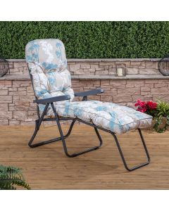 Sun Lounger - Charcoal Frame with Classic Francesca Beige Cushion