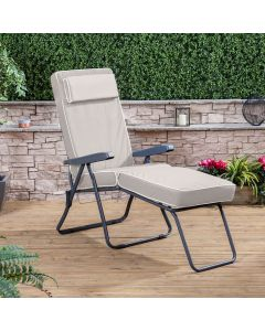 Sun Lounger - Charcoal Frame with Luxury Cushion