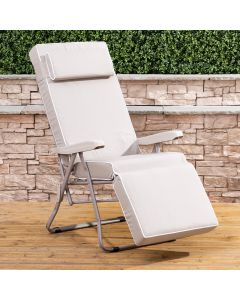 Relaxer Chair - Cappuccino Frame with Luxury Taupe Cushion
