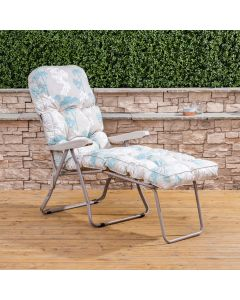 Sun Lounger - Cappuccino Frame with Classic Francesca Beige Cushion