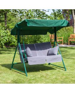 2 Seater Green Swing Seat with Luxury Cushions