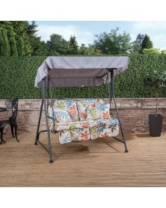 2 Seater Swing Seat with Classic Cushions (Charcoal Frame)