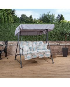 Mosca 2 Seater Swing Seat - Charcoal Frame with Classic Francesca Beige Cushions