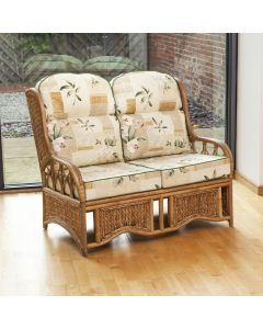 Penang 2 Seater Cane and Woven Sea Grass Conservatory Sofa - Harrogate Natural