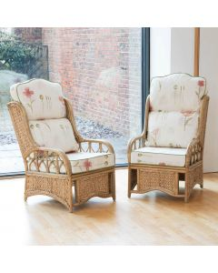 2 Penang Conservatory Armchairs with High Back Cushions