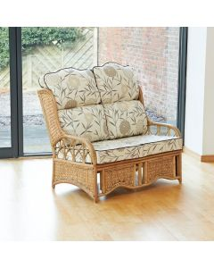Penang 2 Seater Cane and Woven Sea Grass Conservatory Sofa - High Back Bamboo Natural