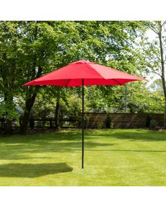 3m Aluminium Wind Up Garden Parasol - Red