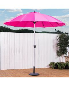 2.7m Geisha Wind Up Garden Parasol