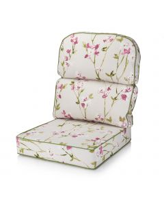Replacement Low Back Conservatory Furniture Cushion - Blossom Chintz
