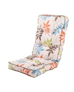 Classic Recliner Cushion in Alexandra Beige Leaf