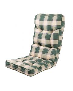 Classic Recliner Cushion in Green Check