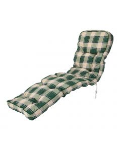 Classic Relaxer Cushion in Green Check