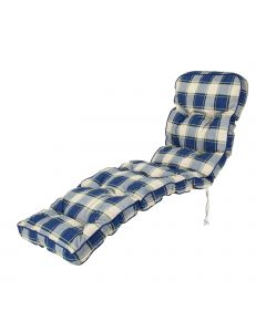 Classic Relaxer Cushion in Blue Check