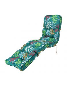 Classic Sun Lounger Cushion in Alexandra Green Leaf