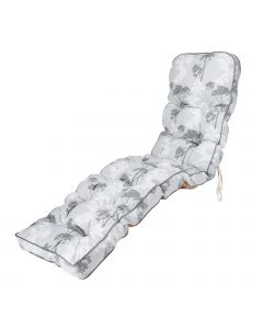 Classic Sun Lounger Cushion in Francesca Grey