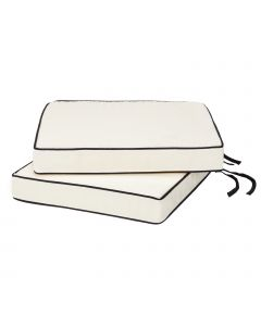 2 Luxury Large Seat Pads in Cream