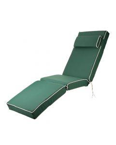 Luxury Sun Lounger Chair Cushion in Green