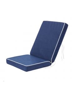 Luxury Garden Dining Chair Cushion in Navy Blue