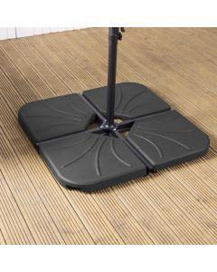 Cantilever Parasol Base - Pack of 4 Black 25kg (100kg)