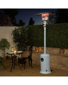 Classic White Gas Patio Heater