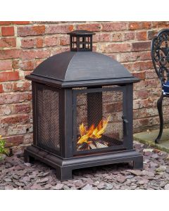 Caicos Log Burner Fire Pit
