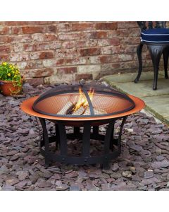 Trinidad Copper Effect Fire Pit
