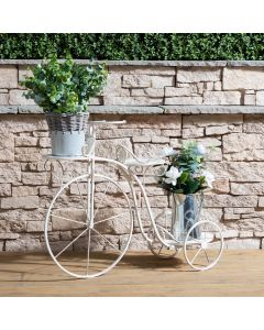 Wrought Iron Decorative Bicycle Flower Stand