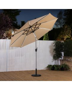 2.7m LED Garden Parasol