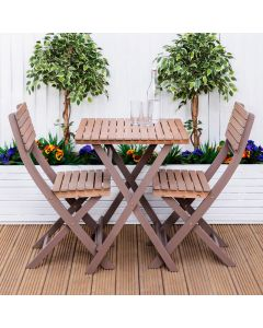 Capri Wooden Bistro Set
