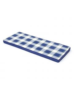 3 Seater Bench Cushion (Blue Check)