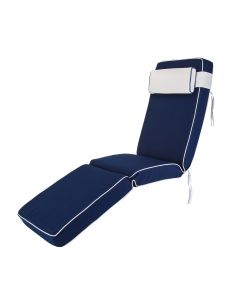 Premium Sun Lounger Chair Cushion in Navy Blue