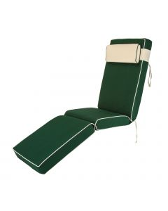 Premium Sun Lounger Chair Cushion in Green