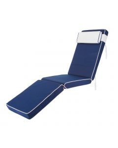 Premium Steamer Deck Chair Cushion in Navy Blue
