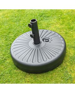 Round Plastic Parasol Base – Water Filled